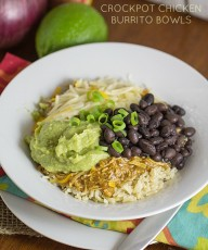 Crockpot Chicken Burrito Bowls - This Gal Cooks