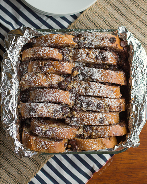 Overnight Chocolate Pecan Pie French Toast Casserole