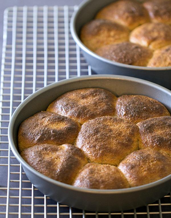 Whole Wheat Dinner Rolls - This Gal Cooks #wholewheat #sidedishes #dinnerrolls