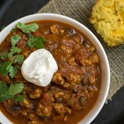 Turkey and Roasted Butternut Squash Chili