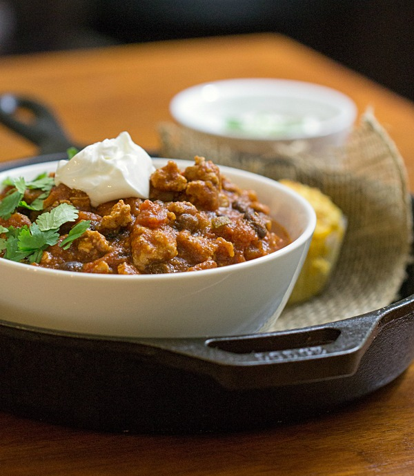 Turkey and Roasted Butternut Squash Chili - This Gal Cooks #soup #dinner #chili