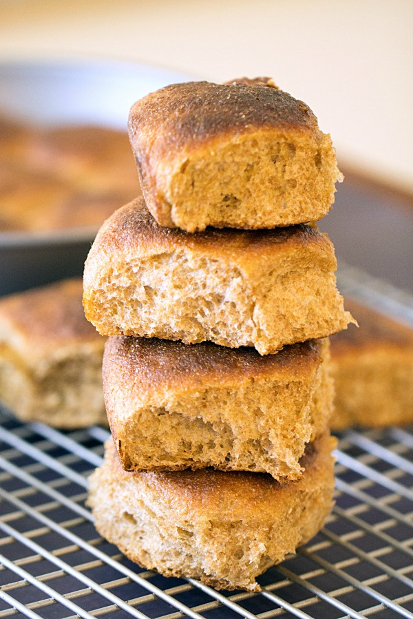 Whole Wheat Dinner Rolls - This Gal Cooks #wholewheat #sidedishes #dinnerrolls