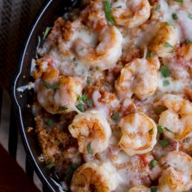 Cajun Shrimp and Quinoa Casserole - This Gal Cooks #cleaneating #healthy #seafood