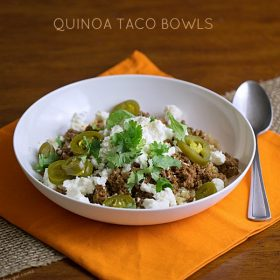 Thirty Minute Quinoa Taco Bowls - This Gal Cooks #glutenfree #healthygrains #groundturkey