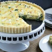 Spinach Leek and Goat Cheese Tart