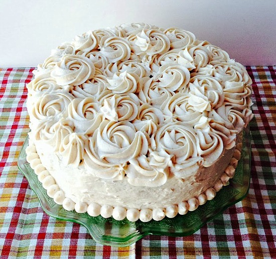 Chocolate Liquor Cake with Peanut Butter Buttercream by Crazy for Cookies and More