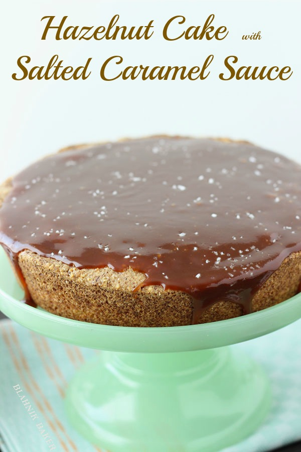 hazelnut cake with caramel sauce_4