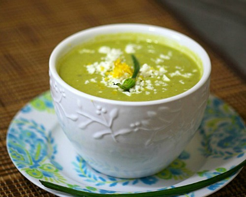 Chilled Asparagus Pea Soup by Food Done Light