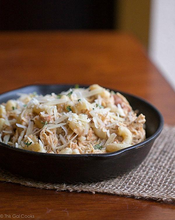 Crock Pot Italian Chicken Pasta This Gal Cooks