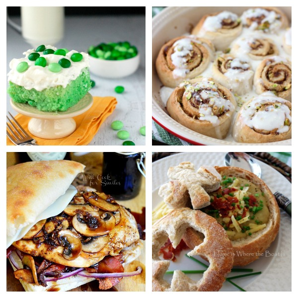 Marvelous Mondays Link Party 90 with St. Patrick's Day Recipes