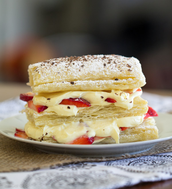 Strawberry Cheesecake Napoleons - This Gal Cooks #dessert #freshfruit #pudding