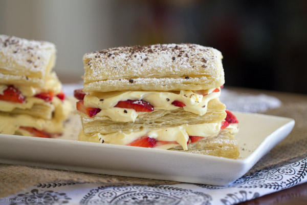 Strawberry Cheesecake Napoleons - This Gal Cooks #dessert #freshfruit #pudding