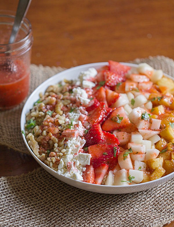 Super Fruit and Walnut Quinoa Salad - This Gal Cooks #healthy #glutenfree #salad
