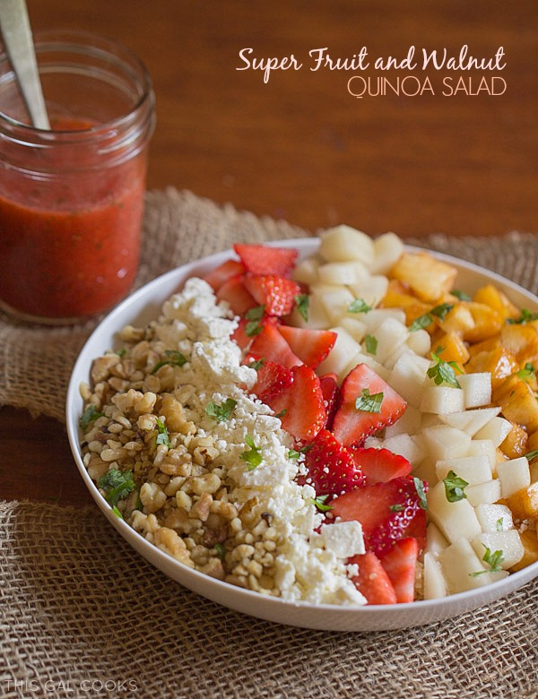 Super Fruit and Walnut Quinoa Salad - This Gal Cooks #healthy #glutenfree #salad