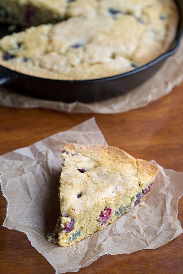 Blueberry Cornbread (dairy free)