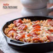 Skillet Pizza Pasta Bake