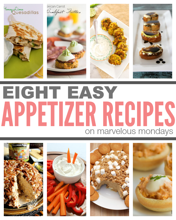 Marvelous Mondays 99 with Appetizer Recipes on This Gal Cooks