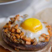 Sausage + Sweet Potato Stuffed Portobello