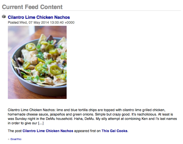 How to Truncate RSS Feed Posts. A tutorial on This Gal Cooks