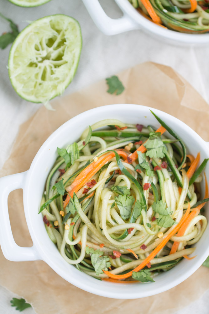 Cucumber Noodles with Sesame Soy Dressing
