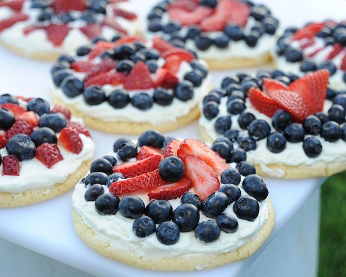 Red White and Blueberry Cookie Tarts by Apron Strings