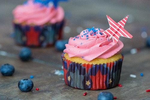 Fourth of July Cupcakes by Kailley's Kitchen
