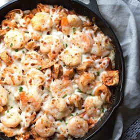 Italian Shrimp Tortellini Bake on This Gal Cooks #dinner