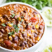 Slow Cooker Tex Mex Soup on This Gal Cooks