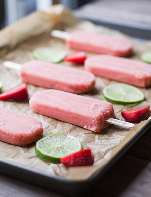 Strawberry Lime Mint Spritzers + Fruttare Bars3