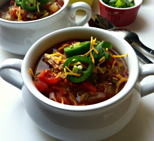 Slow Cooker Chicken Tortilla Soup by A Cedar Spoon