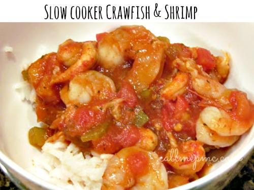 Slow Cooker Crawfish & Shrimp Stew by Call Me PMc