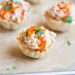 Buffalo Chicken Salad Cups on This Gal Cooks