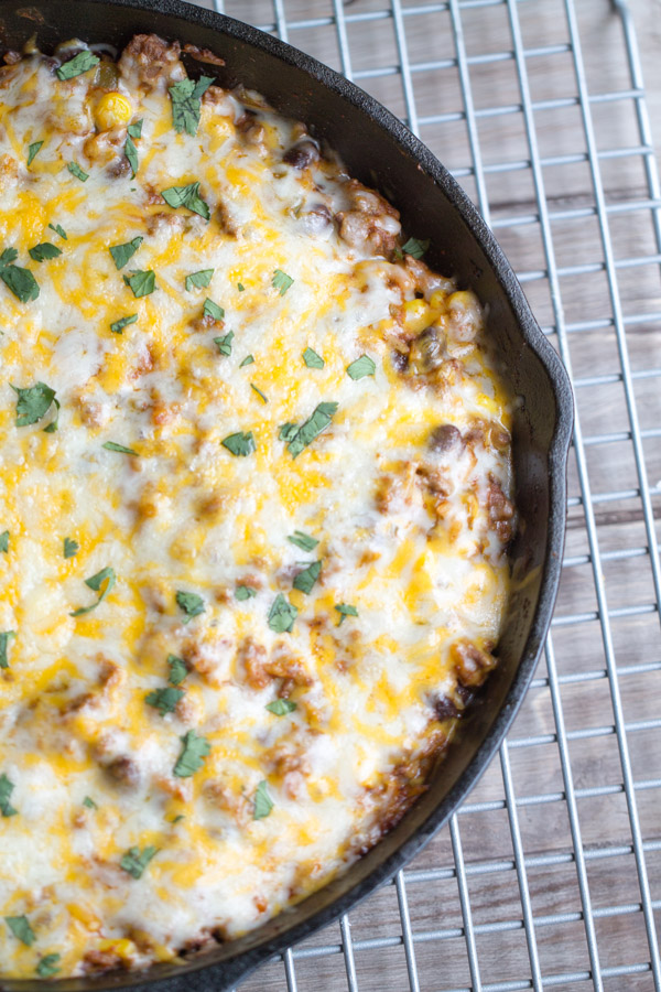 Easy Beef Tex Mex Skillet Casserole