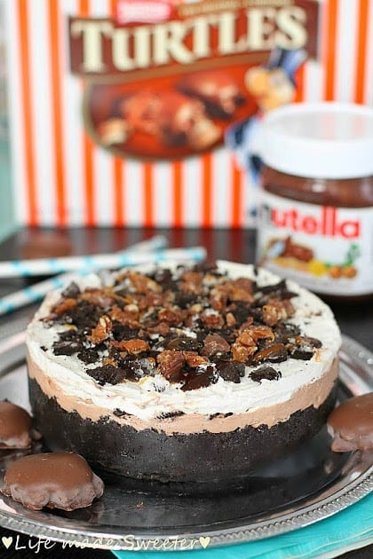 No-Bake Nutella Caramel Cheesecake Pie - Life made Sweeter 6.jpg
