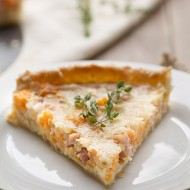 Sweet Potato, Ham and Swiss Tart + Vegas