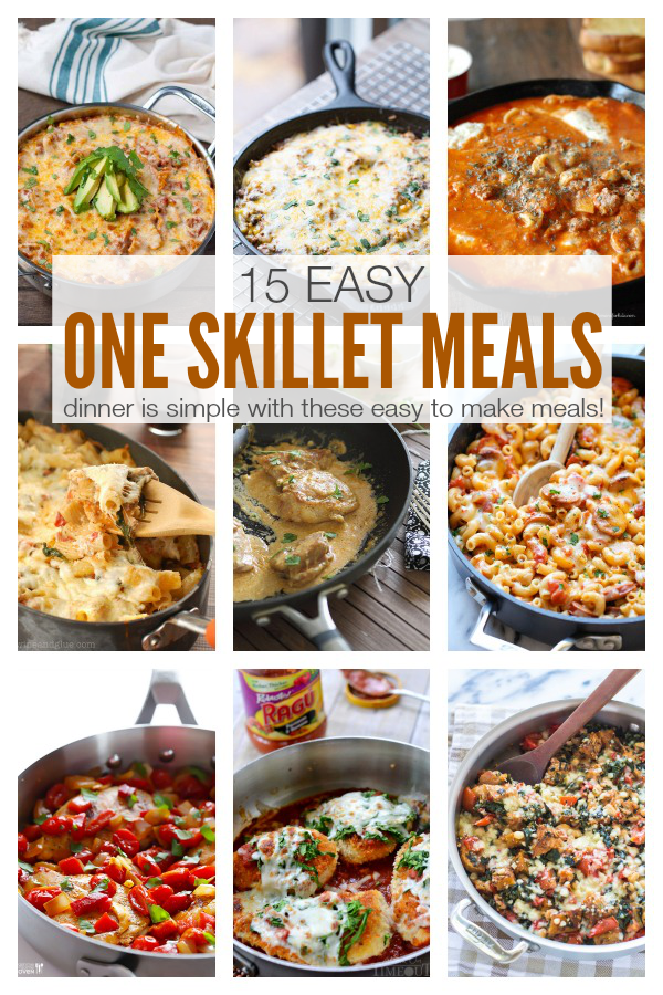 Dinner is simple with these easy to make One Skillet Meals! Olus, fewer dirty dishes to clean!   This Gal Cooks