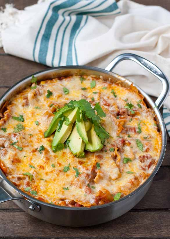 Cheesy-tex-mex-enchilada-skillet-lasagna-2