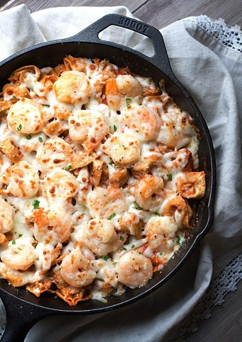 Italian-Shrimp-Tortellini-Bake
