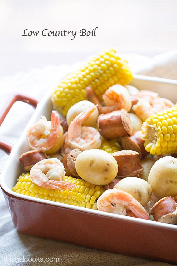 Low Country Boil. A simple one pot meal that will feed a crowd!   This Gal Cooks