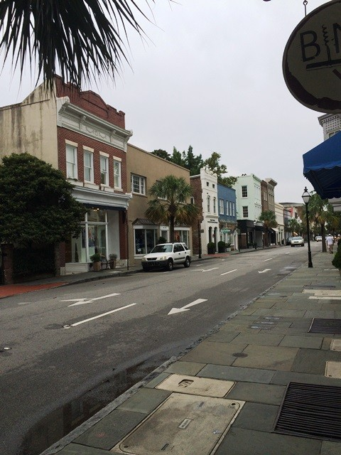 View down King Street. Notice the little apartments and office buildings above the store fronts.