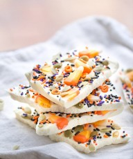 Candy Corn Halloween Bark4wm