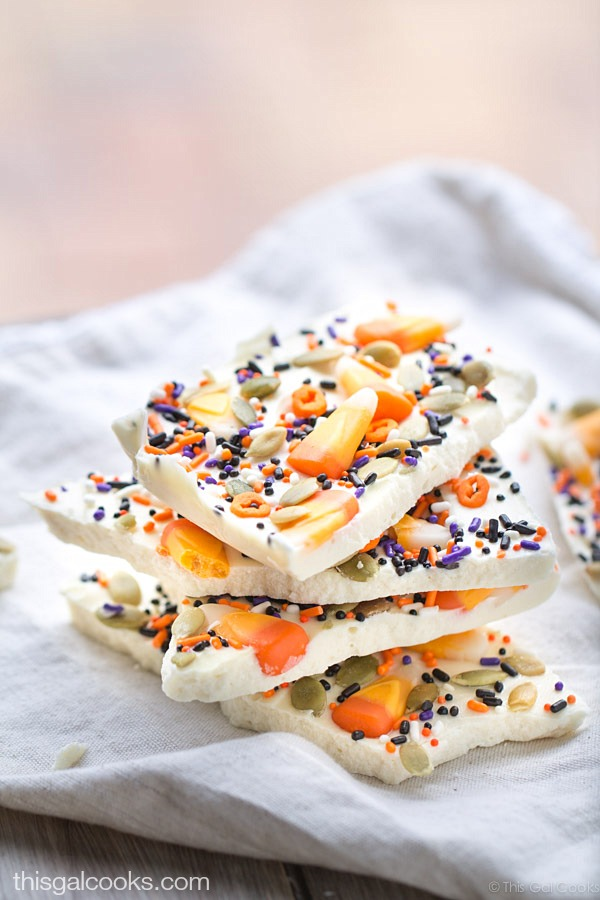 Candy Corn White Chocolate Halloween Bark This Gal Cooks