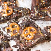 Dark Chocolate Oreo Pretzel Bark