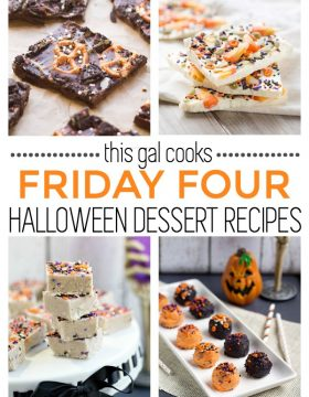 Friday Four 9 Halloween Dessert Recipes | This Gal Cooks
