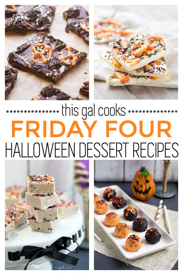 Friday Four 9: Halloween Dessert Recipes | This Gal Cooks