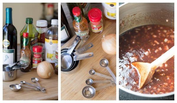 Sauce Prep Collage