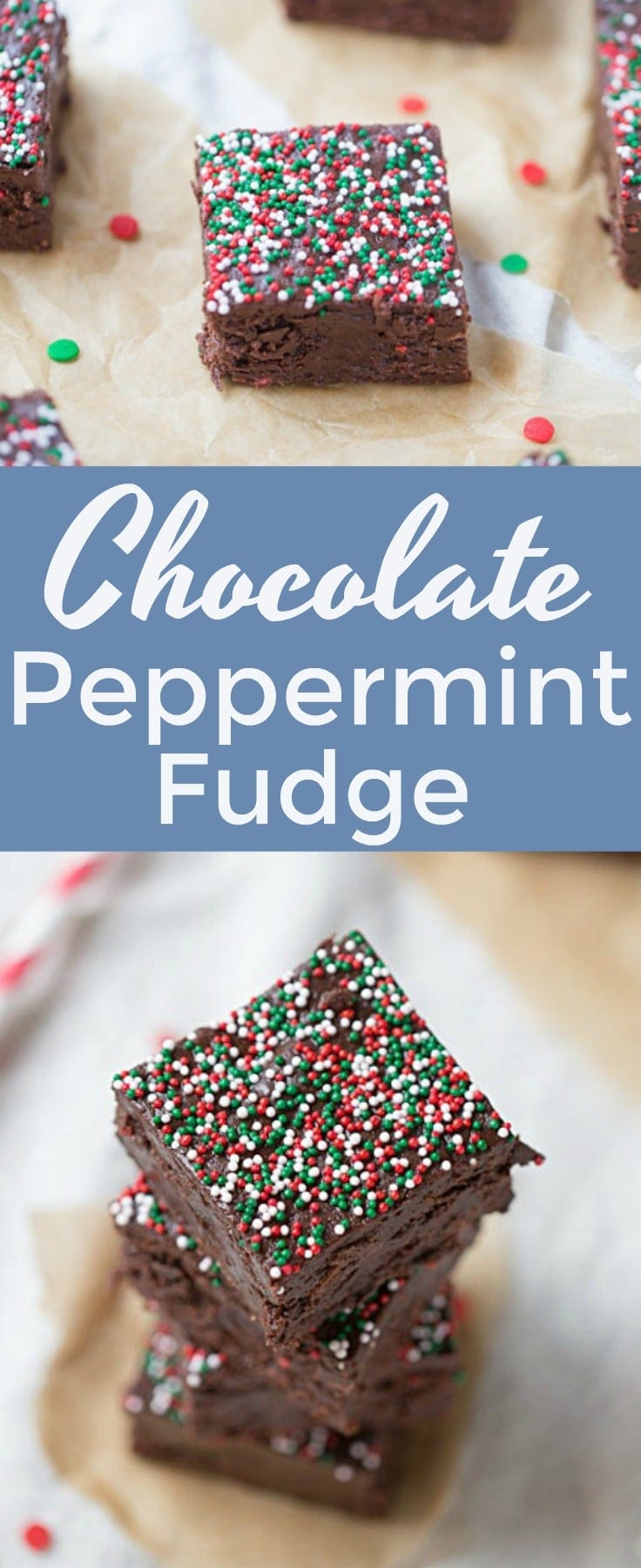 Chocolate Peppermint Fudge is AMAZING! One of my favorite #christmas treats. I love sharing it with my friends! #recipe #fudge #dessert #sweettreats