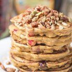 Healthier dairy free Cranberry Pumpkin Pancakes | This Gal Cooks #breakfast