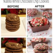 Photography Tutorial + Makeover: Nutella White Chocolate Chip Cookies