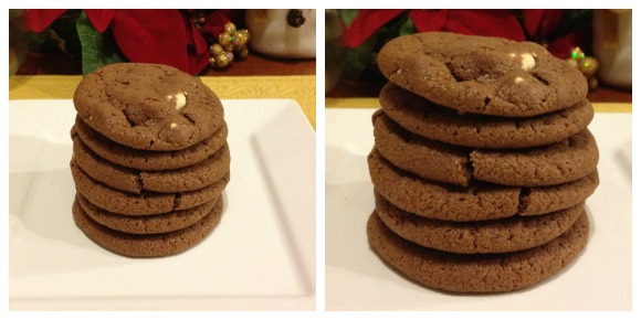 Nutella Chocolate Chip Cookies Before